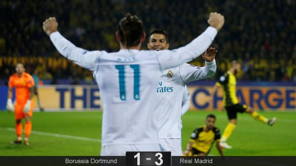 Bale y Cristiano resuelven por fin el acertijo de Dortmund y el Madrid revive