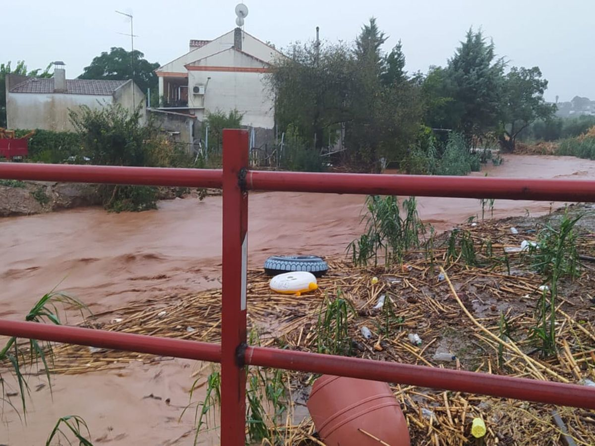 Foto: Inundaciones en Almendralejo. (EFE)