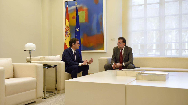 Foto: Mariano Rajoy y Albert Rivera, en La Moncloa. (Gtres)
