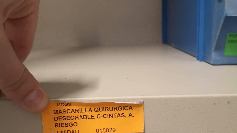 Las estanterías se han vaciado de mascarillas. Ahora están custodiadas. (CSIF)
