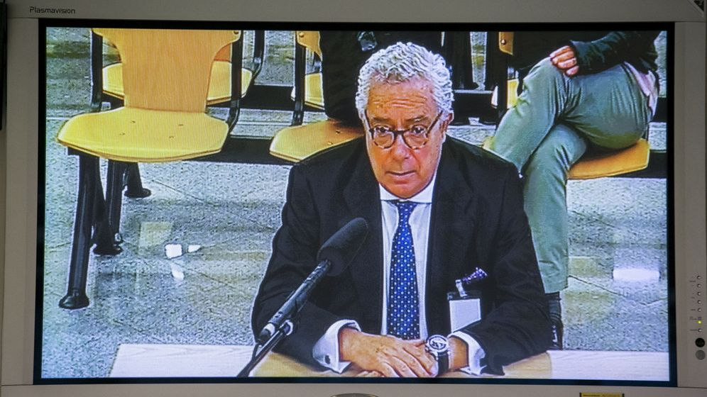 Foto: El expresidente de la constructora Isolux Luis Delso en su declaraci´øn como testigo en el juicio de Gürtel. (EFE)