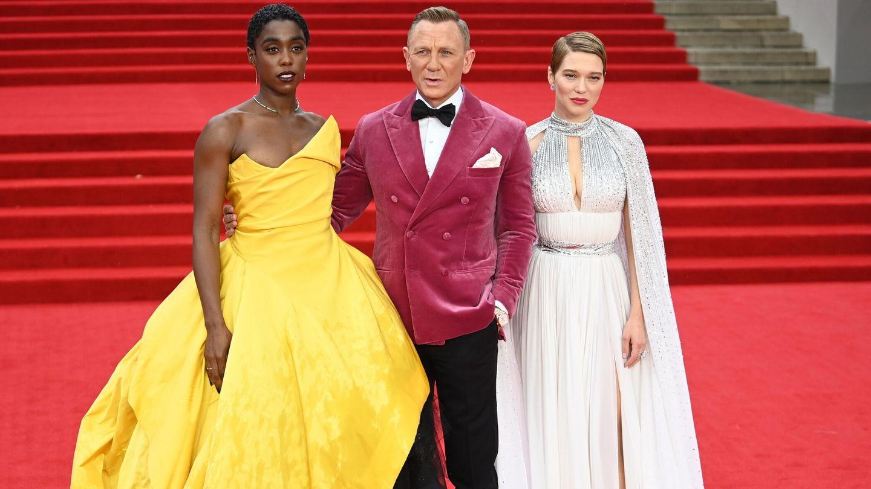 Lashana Lynch, Daniel Craig y Lea Seydoux. (EFE)