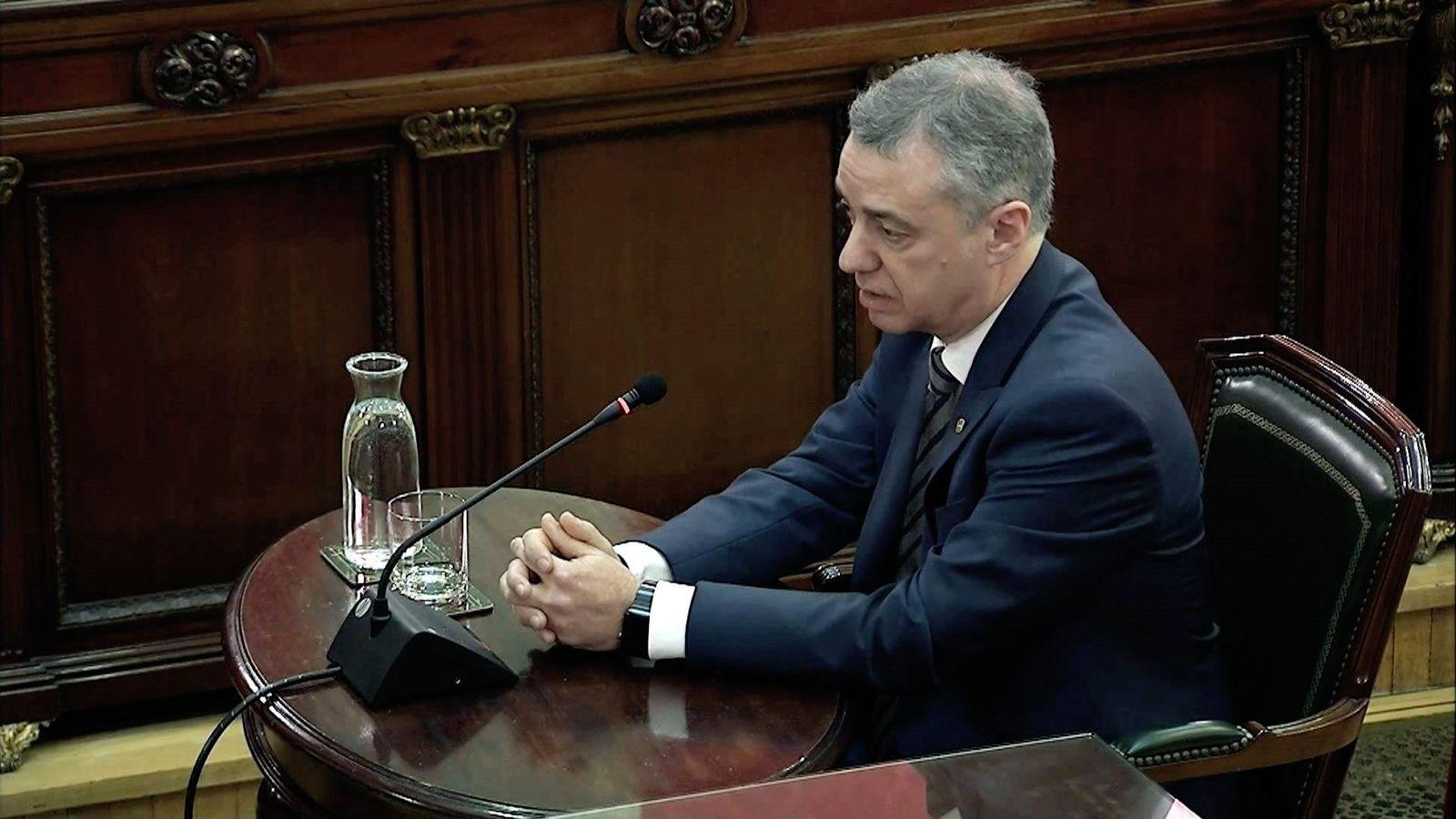 Foto: Captura de la señal institucional del Tribunal Supremo del lendakari Iñigo Urkullu. (EFE)