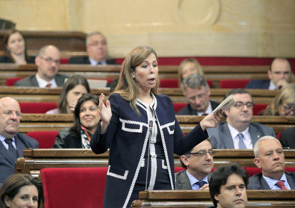 Foto: Alicia Sánchez-Camacho, en el Parlamento catalán. (Efe)