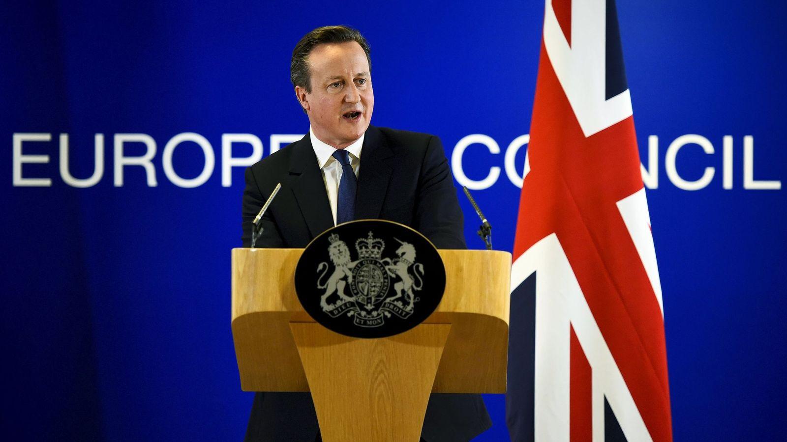 Foto: David Cameron tras la reunión europea en Bruselas. (Reuters)