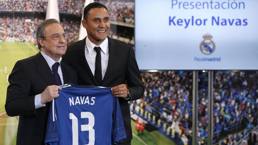 Florentino Pérez pide perdón a Keylor Navas y se plantea subirle el sueldo