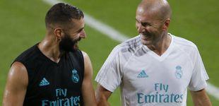 Post de Benzema se queda: Zidane le mima y Cristiano Ronaldo le blinda