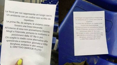 Los ultras de la Lazio, del antisemitismo al machismo: Sin mujeres hasta la fila 10