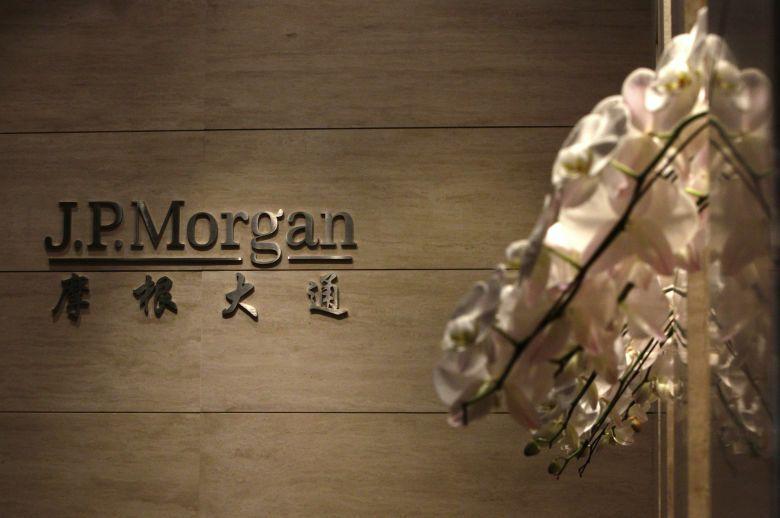 Entrada de la oficina de JP Morgan en Pekín (Reuters).