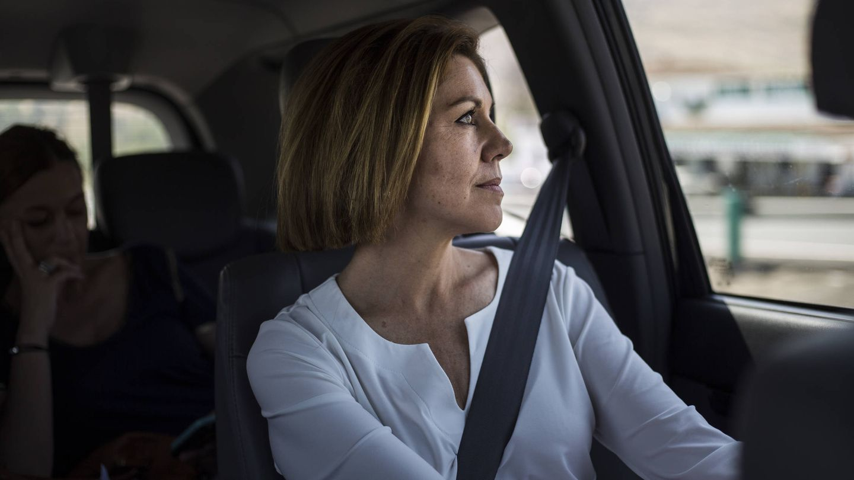 La candidata durante su trayecto en coche entre Granada y Estepona (Málaga).