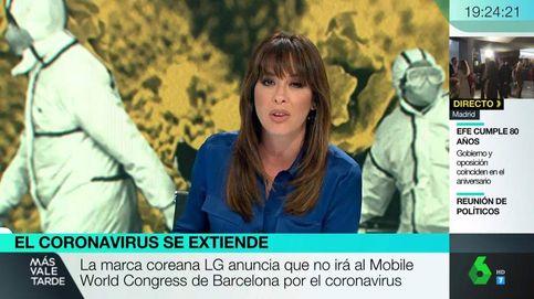 El susto que ha dado Mamen Mendizábal mientras hablaba del coronavirus