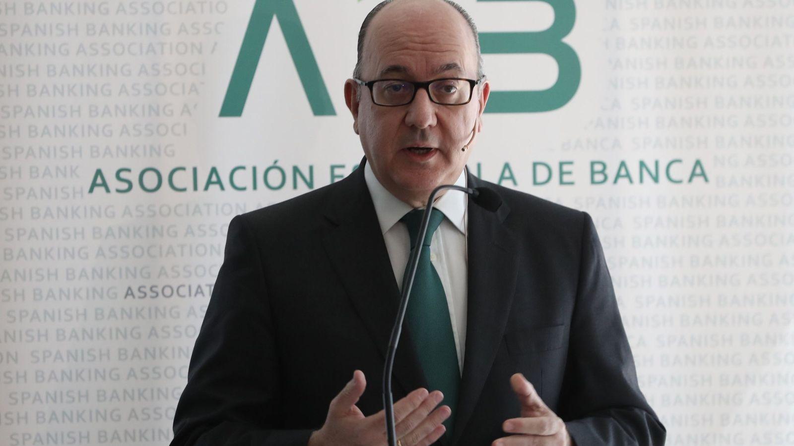 Foto:  El presidente de la Asociación Española de Banca (AEB), José María Roldán. (EFE)