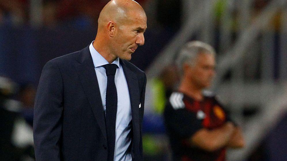 Foto: Zinedine Zidane, en la Supercopa. (Reuters)