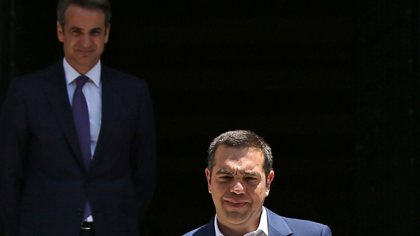 Alexis Tsipras Outgoing Prime Minister Alexis Tsipras leaves the Maximos Mansion after a meeting with newly-appointed Greek Prime Minister Kyriakos Mitsotakis, in Athens, Greece July 8, 2019. REUTERS Costas Baltas