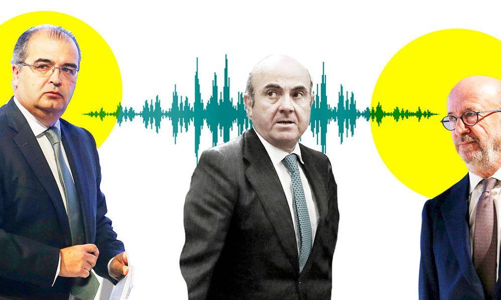 Foto: Ángel Ron, De Guindos y Emilio Saracho. (EC)