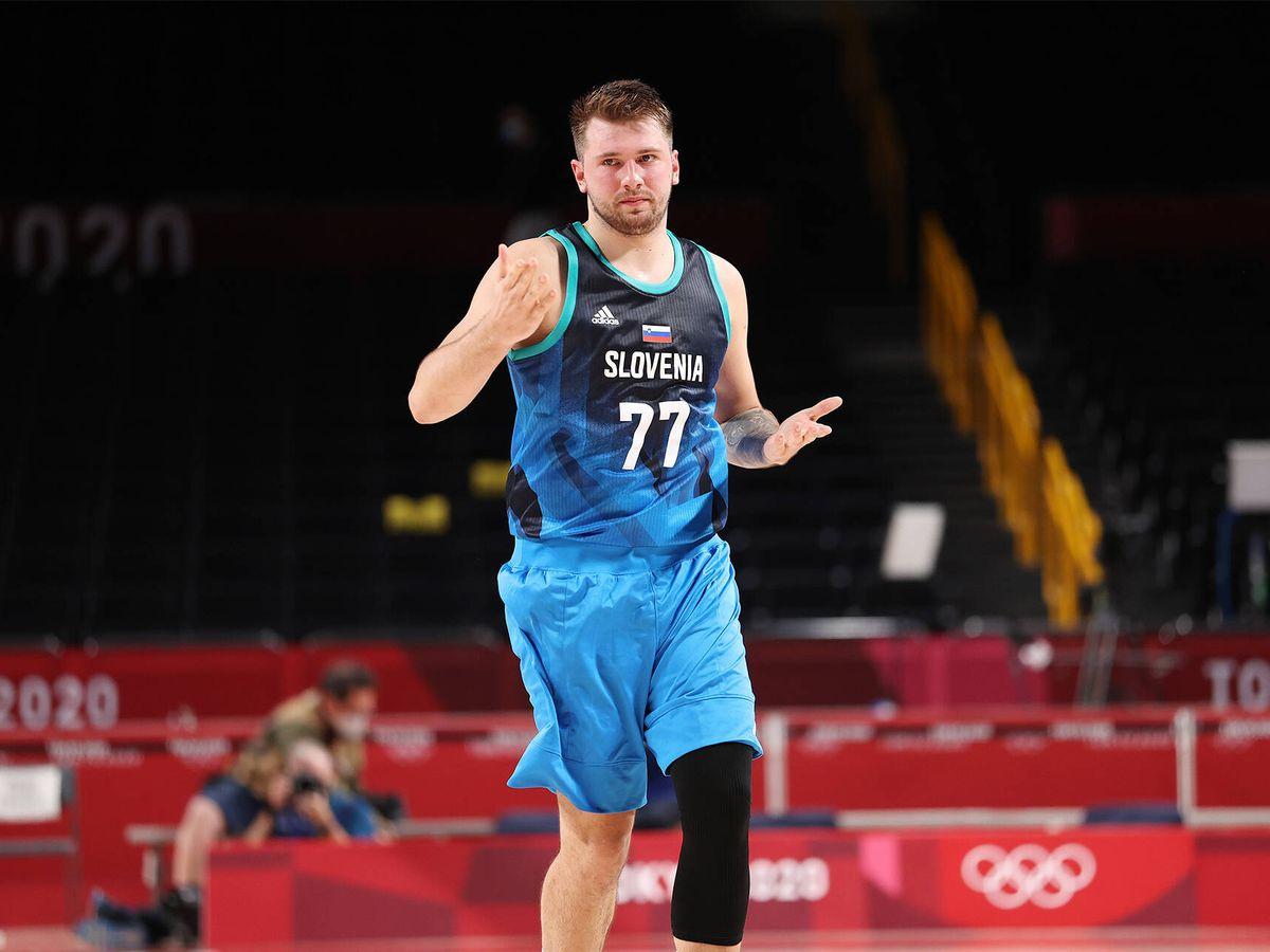 Foto: Luka Doncic, durante el debut en los Juegos. (Getty)
