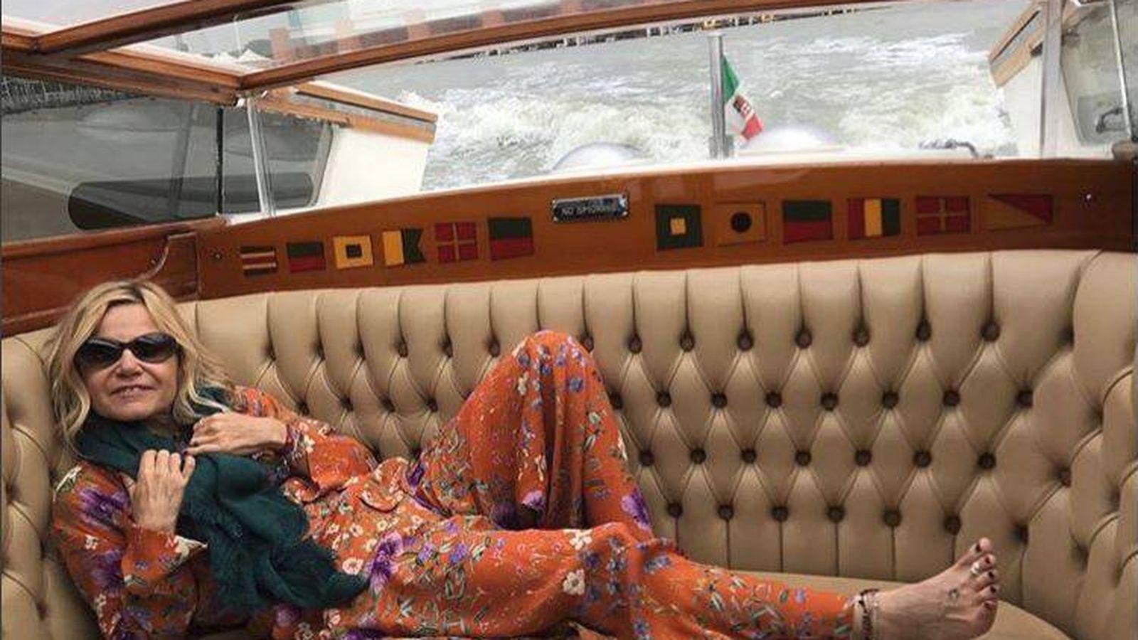 Foto: Eugenia Martínez de Irujo en Venecia. (Redes)