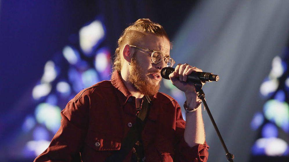 Foto: Andrés Martín en 'La Voz'. (Antena 3)