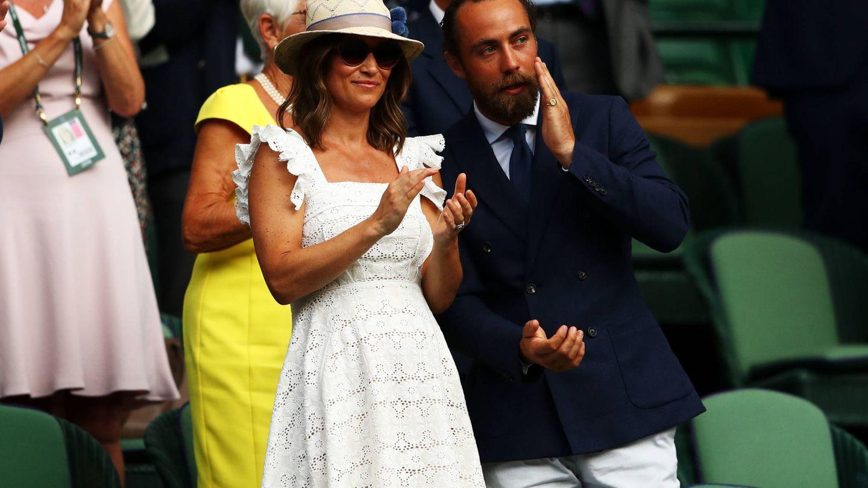 Pippa y James, en Wimbledon. (Getty)