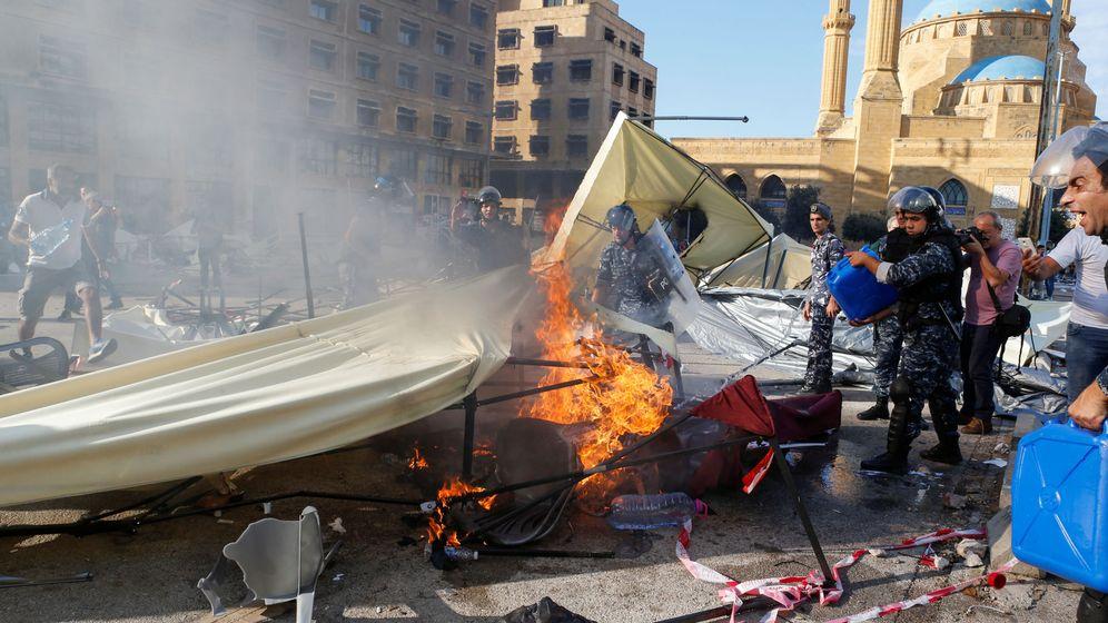 Foto: Protestas en Líbano. (Reuters)