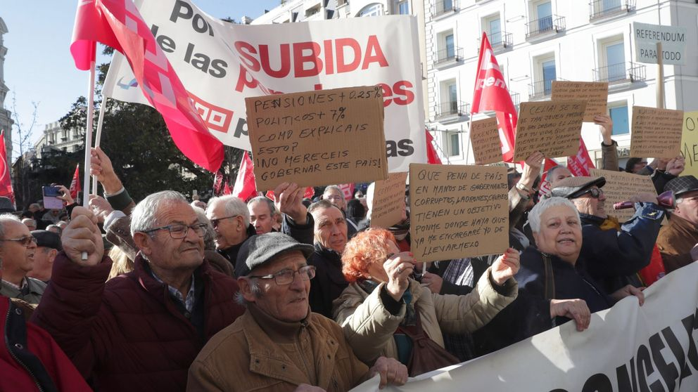 Los que más perderán con las pensiones no estaban en la manifestación