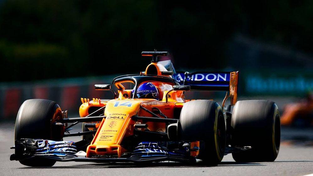 Foto: Alonso, en el GP de Hungría McLaren. (Foto: @McLarenF1)