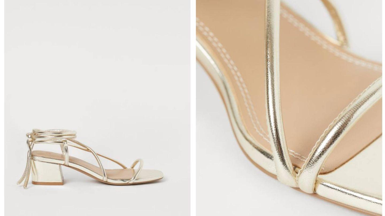 Las sandalias de H&M al detalle. (Cortesía)
