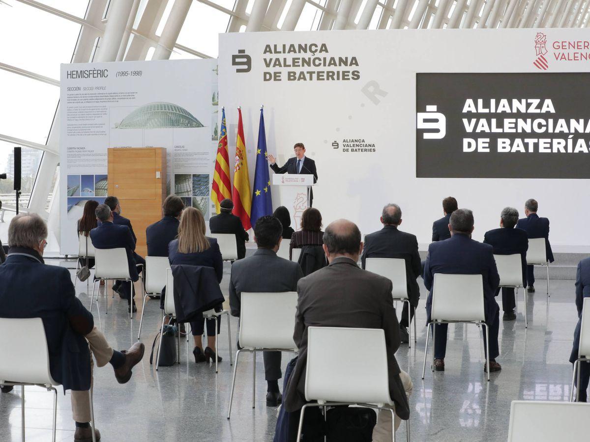 Foto: El acto de presentación de la Alianza Valenciana de Baterías en el Museo de las Ciencias. (GVA)