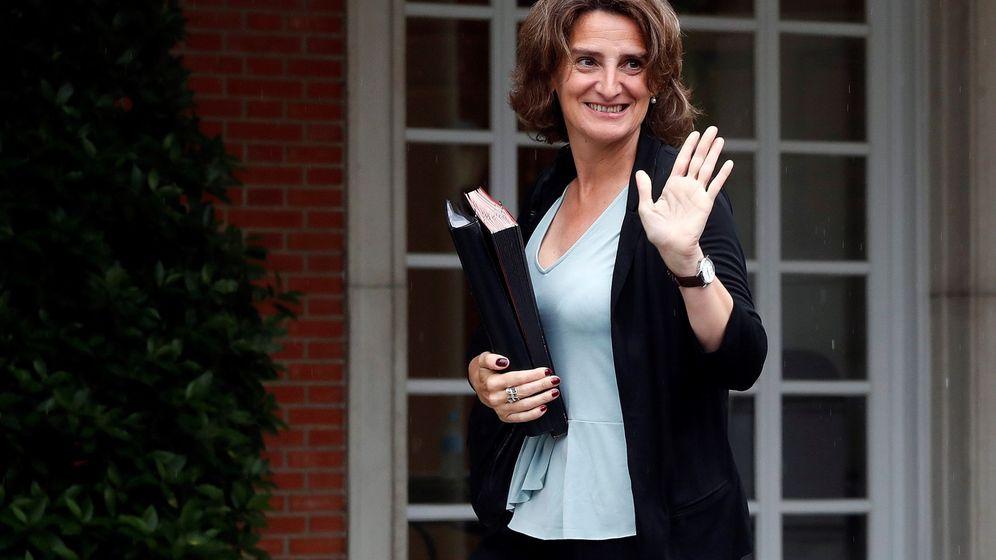 Foto: La ministra de Transición Ecológica, Teresa Ribera, a su llegada al Palacio de la Moncloa. (EFE)