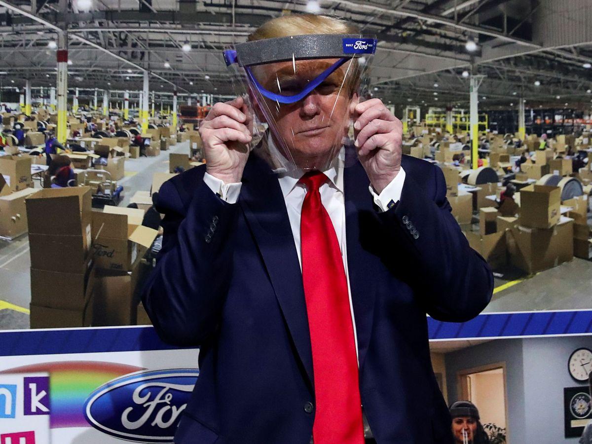 Foto: Trump en su visita a Ford. (Reuters)