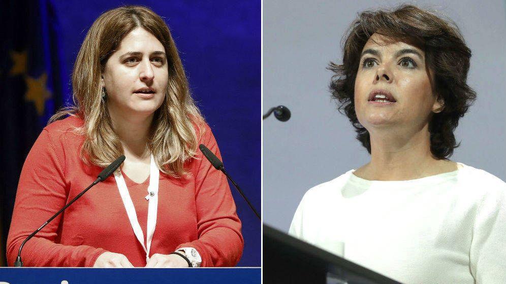 Foto: Marta Pascal y Soraya Sáenz Santamaría. (Montaje: El Confidencial)