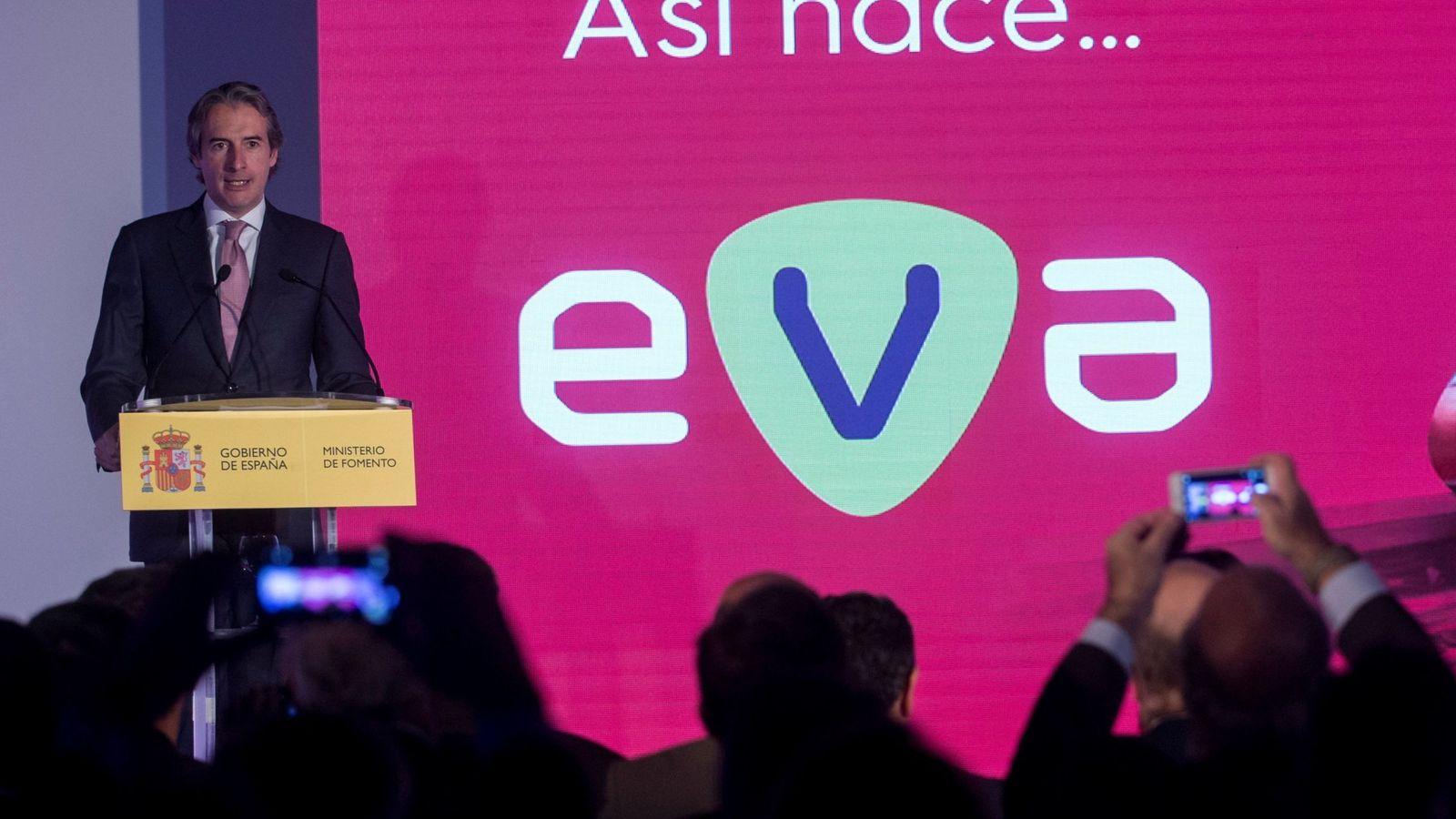 Foto: De la Serna, en la presentación del servicio de Renfe EVA.