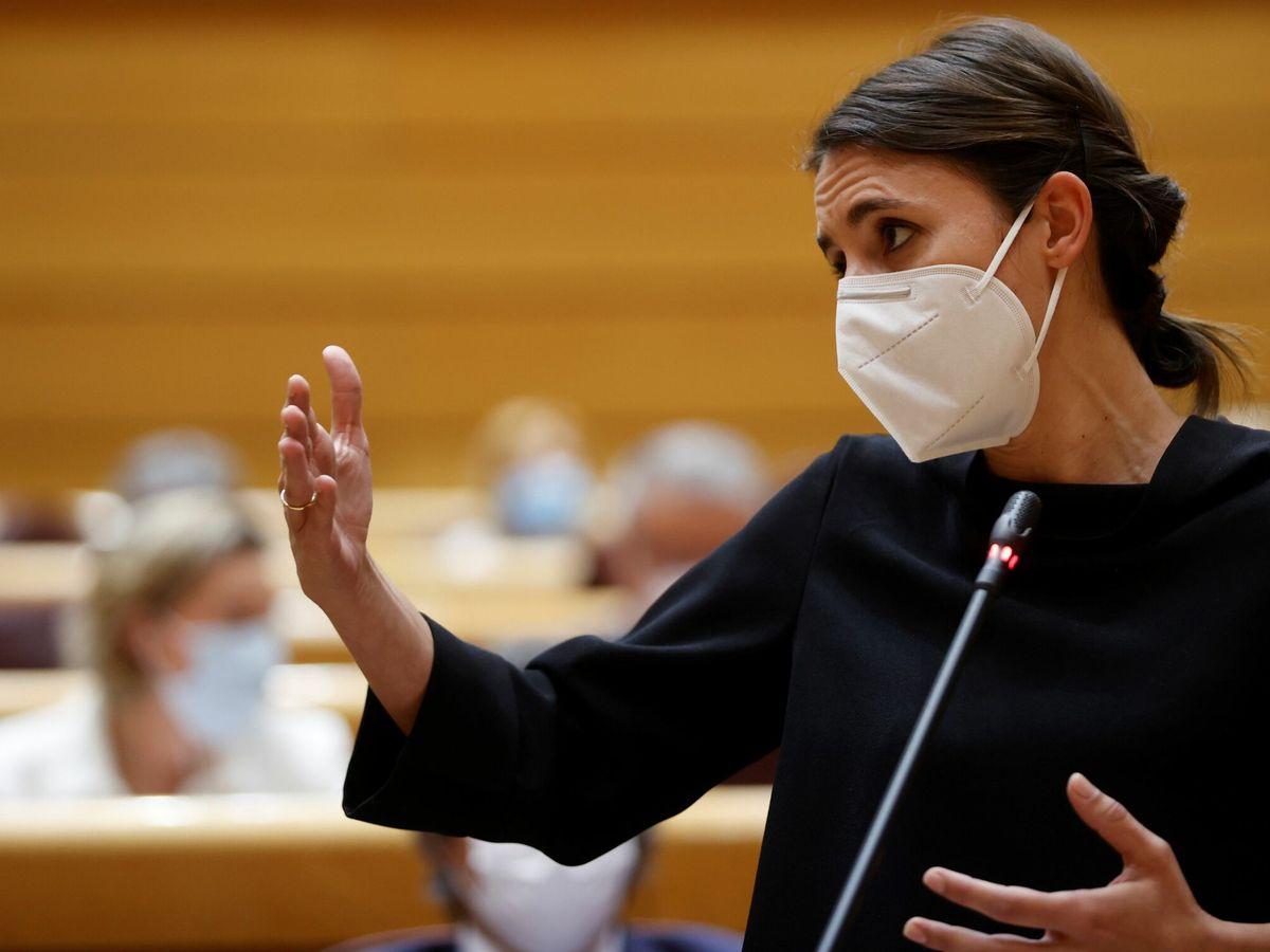 Foto: Irene Montero en el Senado. (EFE)