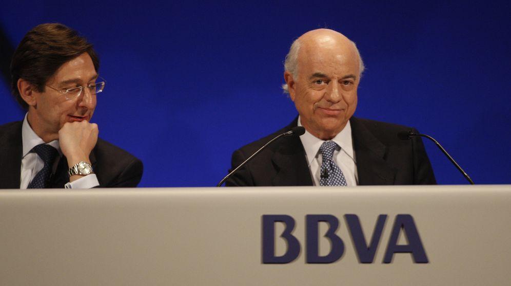 Foto: José Ignacio Goirigolzarri y Francisco González cuando estaban juntos en BBVA. (EFE)