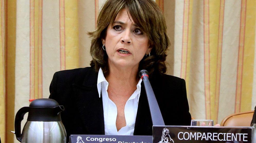 Foto: Delgado, ante la comisión de Justicia del Congreso. (EFE)