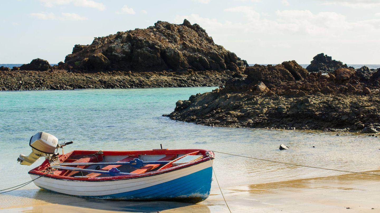 Barco en la Isla de Lobos (Imagen: iStock)