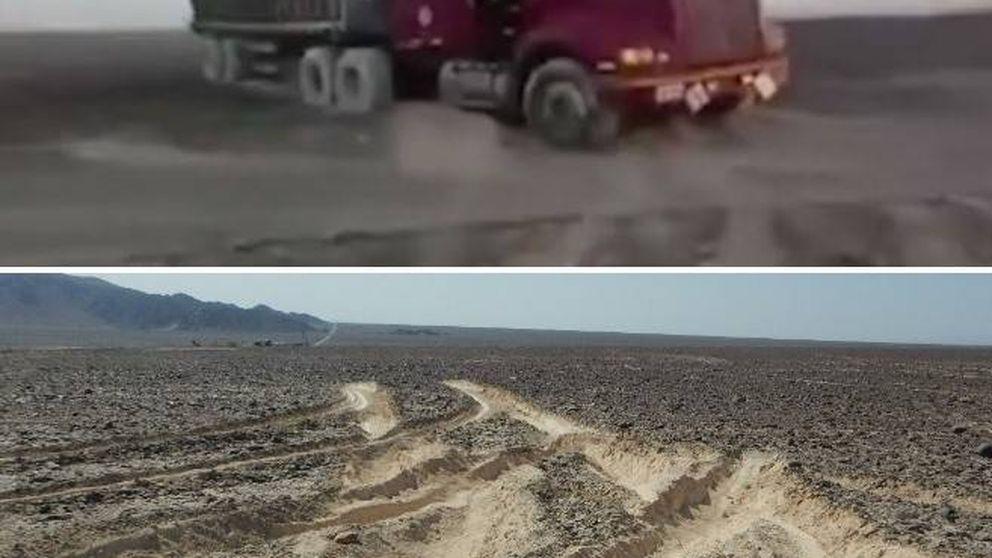 Un camionero arrasa las milenarias Líneas de Nazca para evitar un peaje
