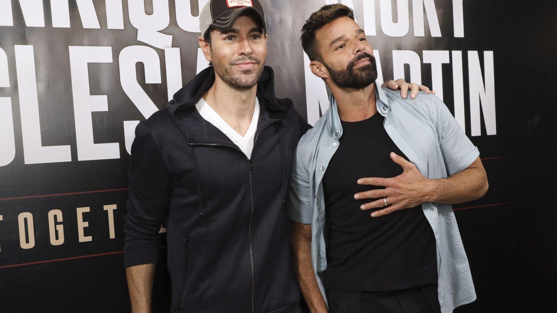 Con Ricky Martin, en la presentación de su gira. (EFE)