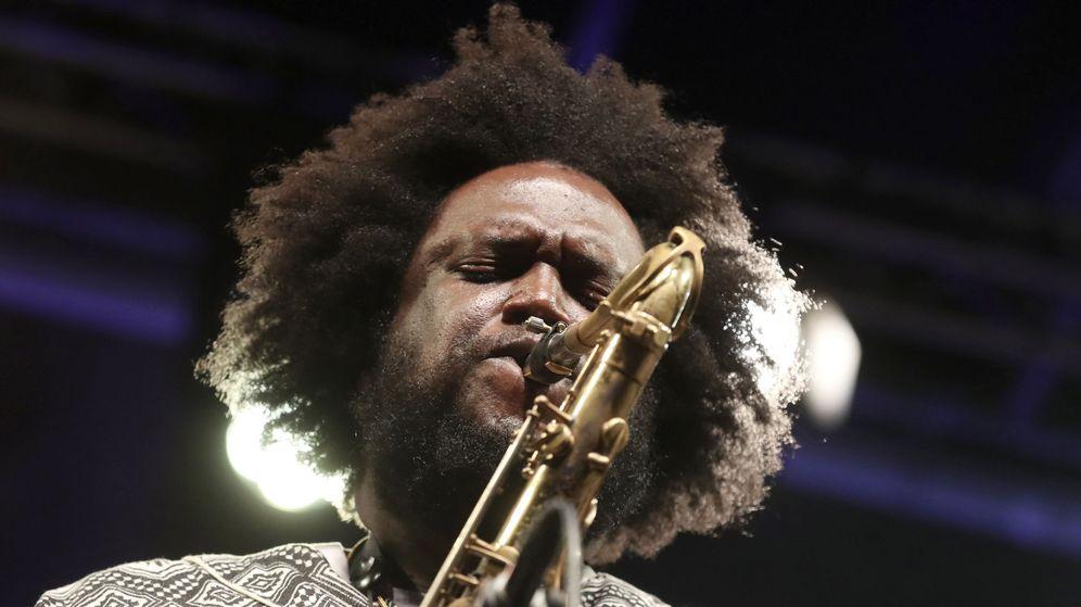 Foto: El saxofonista estounidense Kamasi Washington en San Sebastián. (EFE)