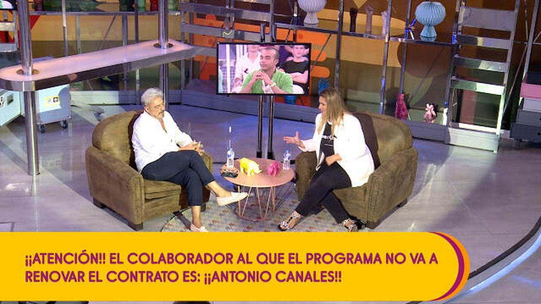 Antonio Canales y Carlota Corredera, en 'Sálvame'. (Telecinco)