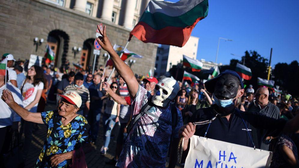 Foto: Manifestaciones en Bulgaria. (EFE)