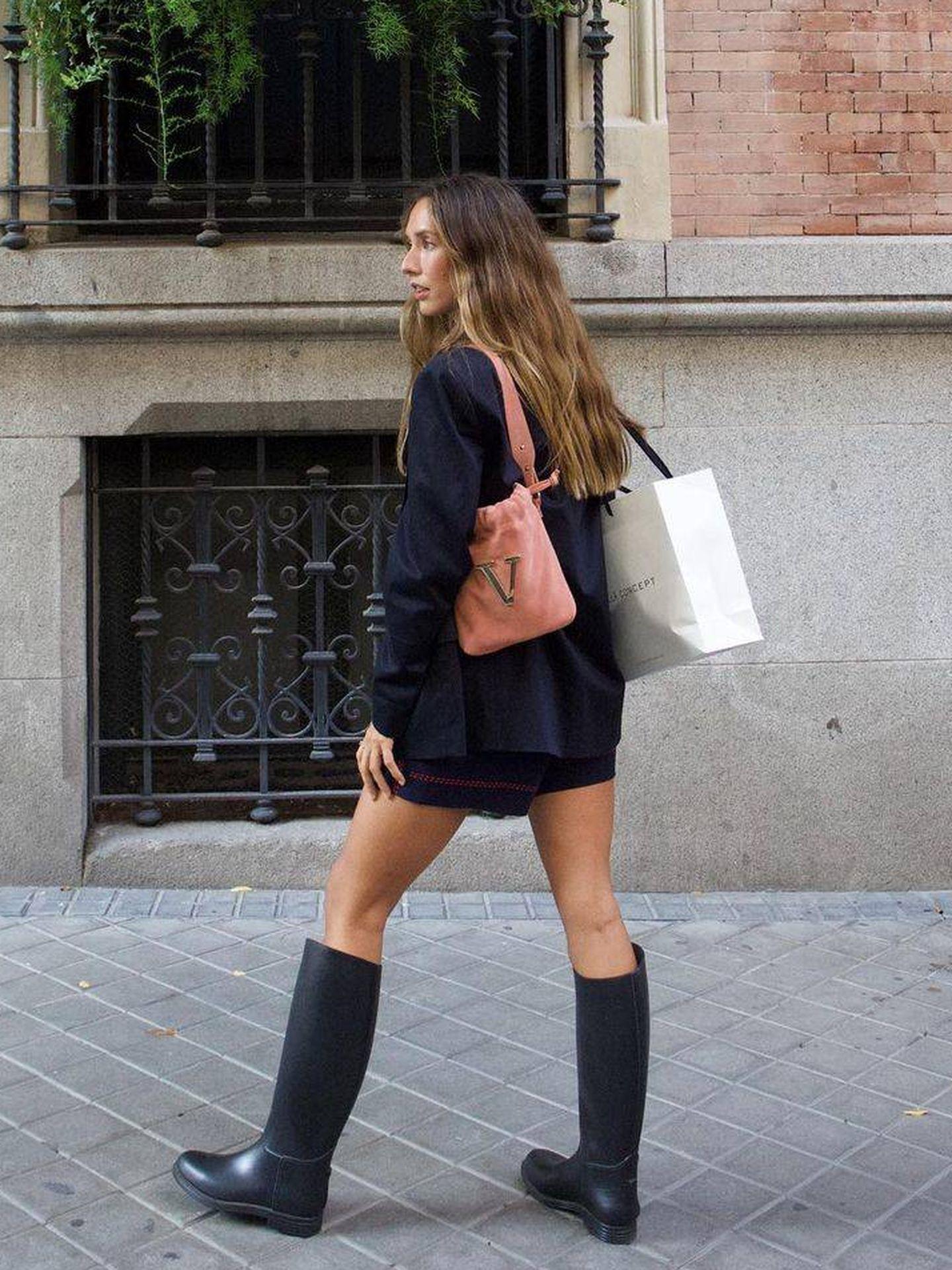 Grace Villarreal con las las botas de equitación de Decathlon. (Instagram, @gracyvillarreal)