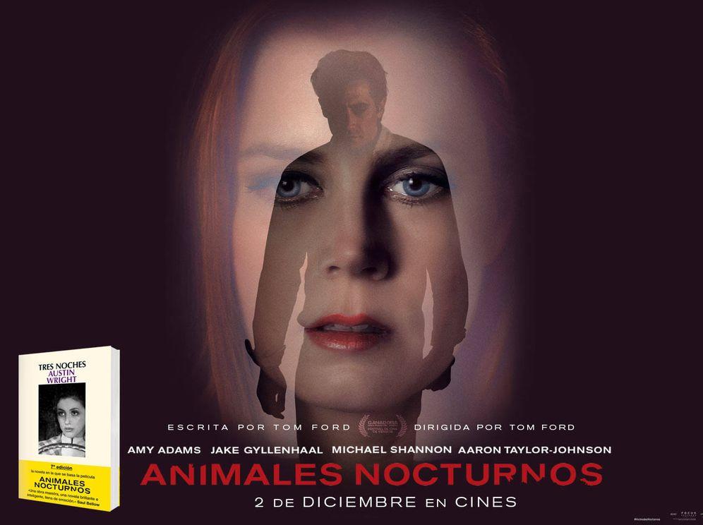 Foto: Cartel y novela de 'Animales nocturnos'