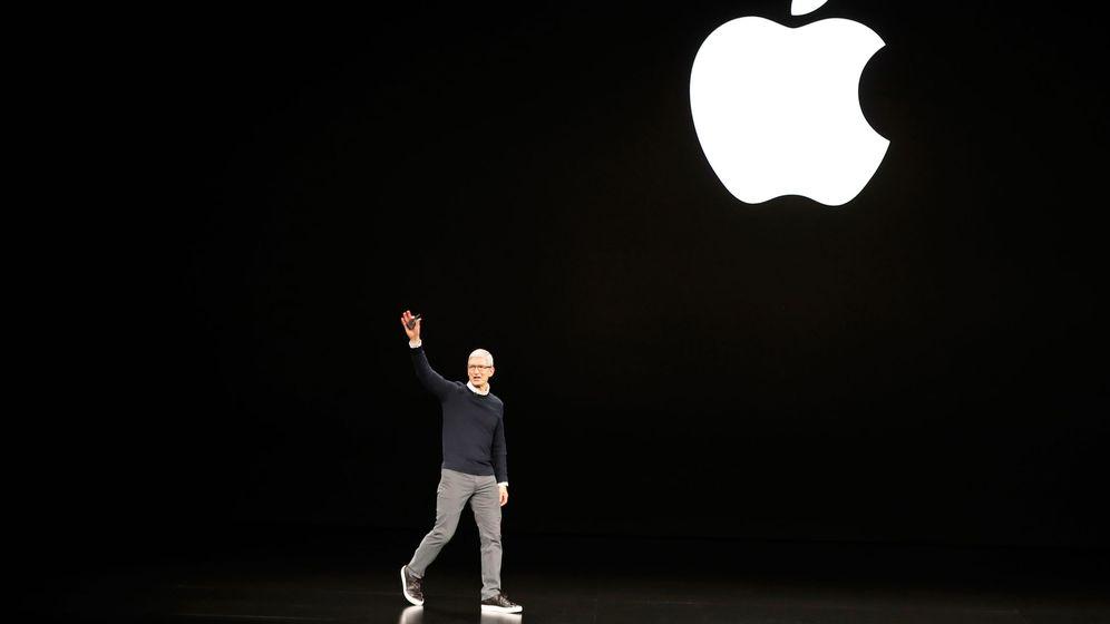 Foto: El CEO Tim Cook, en la conferencia anual de Apple este lunes. (Reuters)