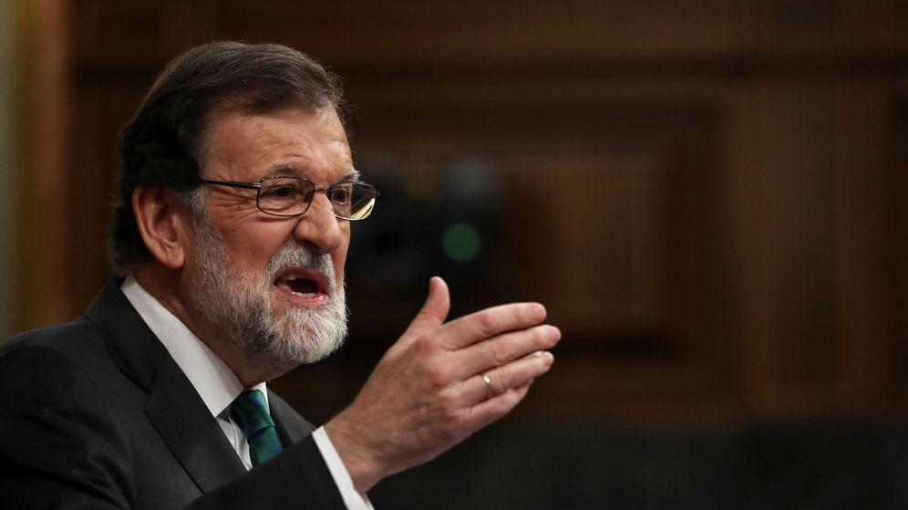 Foto: Mariano Rajoy, durante la moción de censura de este jueves. (Reuters)