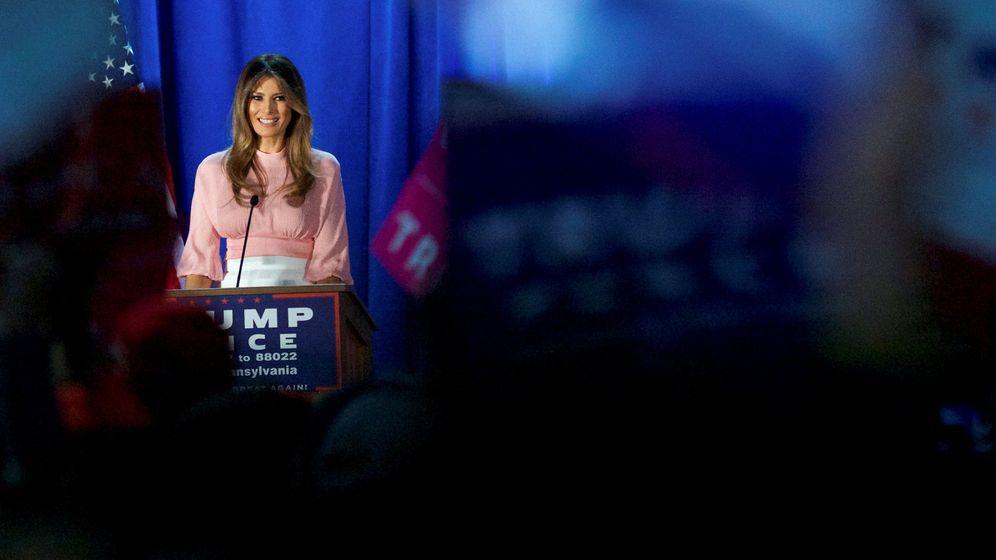 Foto: Melania Trump, durante el acto electoral celebrado en Berwyn, Pensilvania, el 3 de noviembre de 2016. (Reuters)
