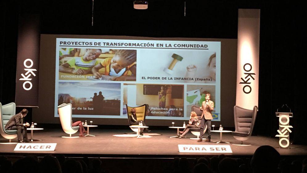 Foto: Una de las mesas del congreso OKKO, en el Auditorio de Torrent.