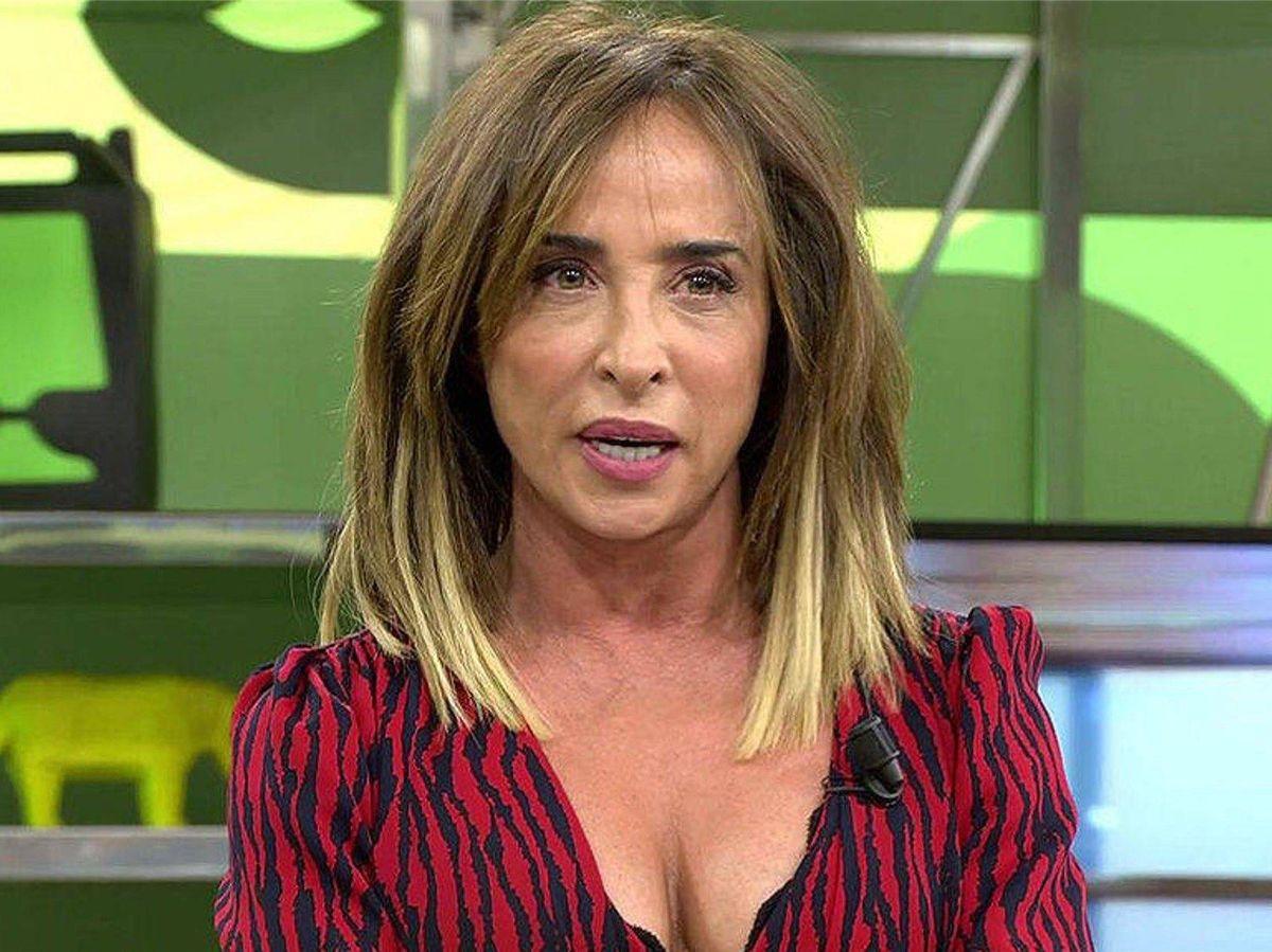 Foto: María Patiño, en 'Sálvame'. (Telecinco)