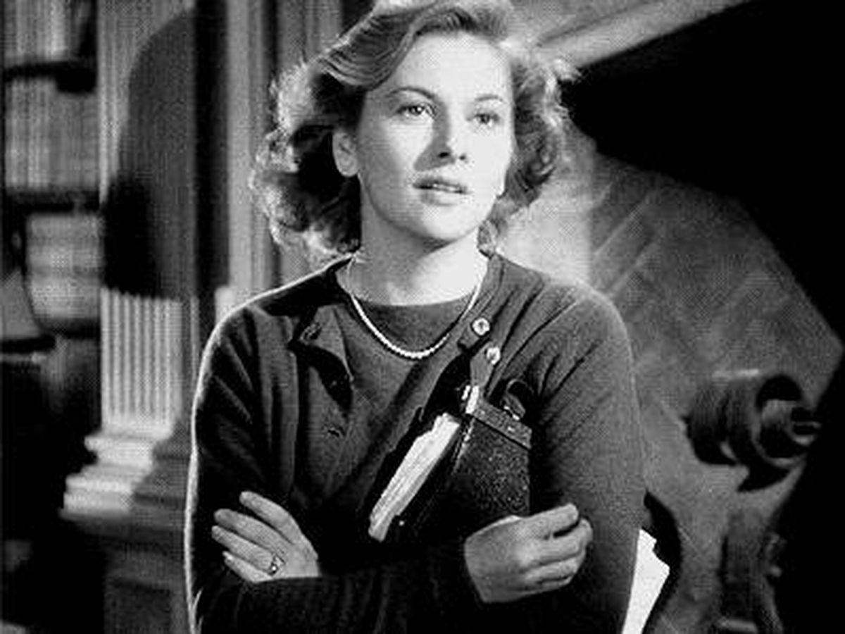 Foto: Joan Fontaine, como Rebeca en el film de Alfred Hitchcok.
