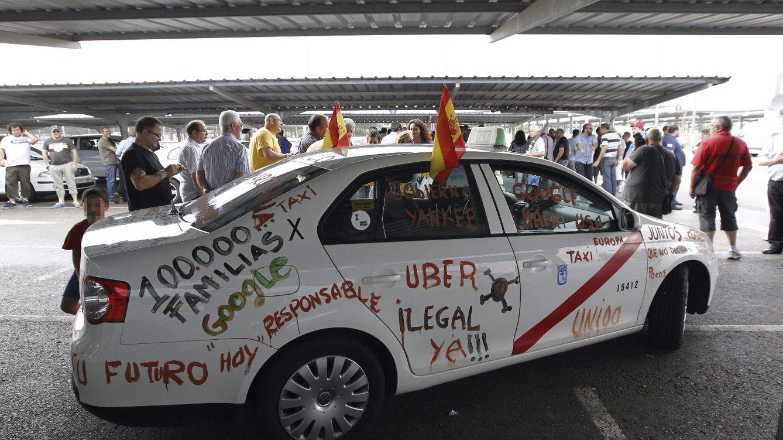 Foto: Los taxistas españoles hacen 'lobby' en Europa contra Uber